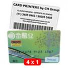 cartões de pvc - 4x1